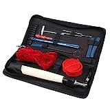 Afinador de piano profesional Lovebay, kit de 10piezas, incluye martillo de ajuste, llave de afinación, mango para martillo, herramientas y estuche