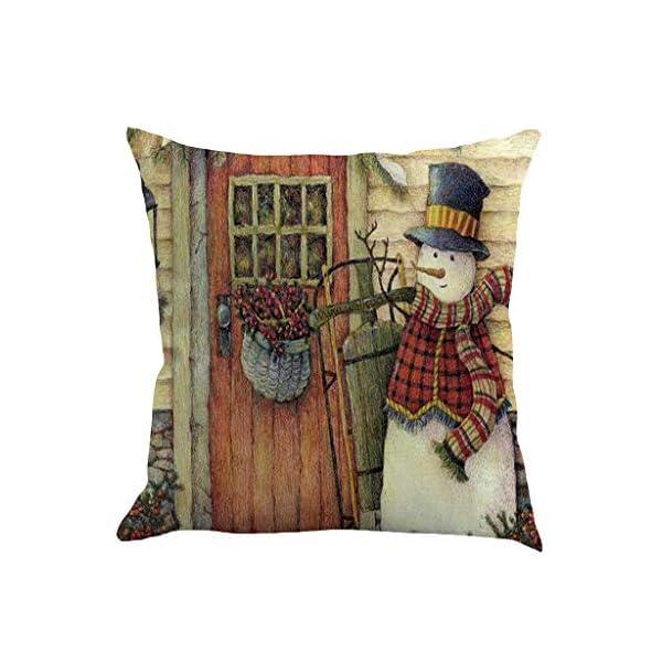 IJKLMNOP Christmas Pillow Square Pillow Case Lino Mat 45x45cm es Adecuado para oficinas, Casas, automóviles, cafeterías… 4