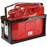 10 Liter Kanister rot mit Halterung und Sicherungsstift Stahlblechkanister Set