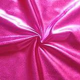 STOFFKONTOR Stretch Folienjersey Stoff Meterware Pink