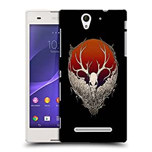 Snoogg White Anti Face Designer Protective Back Case Cover For SONY XPERIA C3