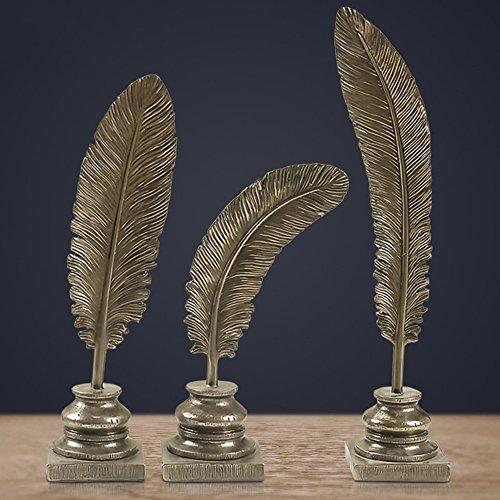 Ornamente/MENA HOME MENA HOME/Europäischen Stil kreativen kaltgegossenen Kupfer Handwerk federförmigen Blätter dekoriert Stücke von 3 Sets von Xuanuan Heimtextilien Möbel