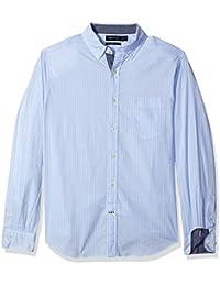 Nautica Men's Classic Fit Stretch Striped Long Sleeve Button Down Shirt