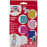 Staedtler 8032 02 - Fimo kids Materialpackung Colour Pack - girlie, 6 x 42 g