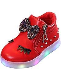 Zapatos Niño con Luces K-youth Zapatillas Infantil Zapatos Bebe Niña LED Luz Luminosas Flash Zapatos Zapatillas De Deporte Zapatos De Bebé Antideslizante Botas Niña Zapatos Cremallera