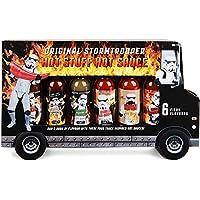 """Modern Gourmet Foods, Set de Regalo Salsas Picantes """"Stormtrooper Food Truck"""", Sabores que Incluyen Chipotle Asado, Habanero y Más, Pack de 6"""