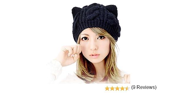 Chapeau de chat hiver femmes, Youson Girl® Boucles d oreilles à la  chandelle à la coupe de mode féminine, Noir, noir  Amazon.fr  Vêtements et  accessoires bfea77a5b70