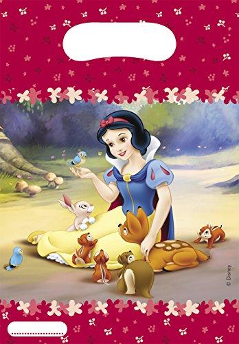 s Disney Snow Weiß Partytüten, 6Stück ()