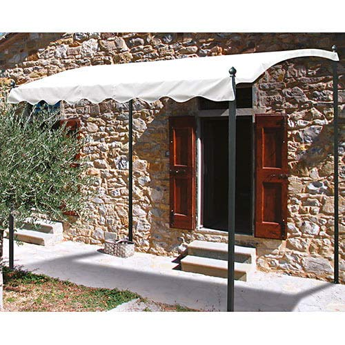 bertozzi pergola gazebo da giardino 2x3m struttura in ferro telo bianco