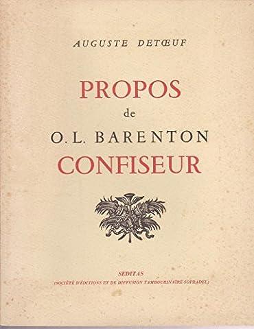 Barenton Confiseur - Propos de o.-l. barenton confiseur, ancien eleve