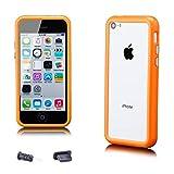 iCues - Apple iPhone 5C -   Pare-chocs avec des boutons en aluminium orange -...