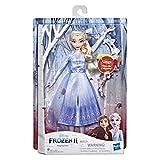 Disney Frozen 2 - Elsa Cantante, Bambola elettronica con Abito Azzurro, Ispirato al Film Frozen 2