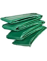 Ampel 24, Coussin de protection DELUXE pour trampoline | 100% résistant aux UV | convient aux diamètres 180 - 490cm | double épaisseur | vert