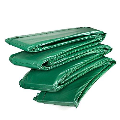 Ampel 24 Trampolin Randabdeckung Deluxe passend für Ø 427 bis 430 cm bei Außennetz, Dicker Schutzrand reißfest und UV-beständig, Federabdeckung grün
