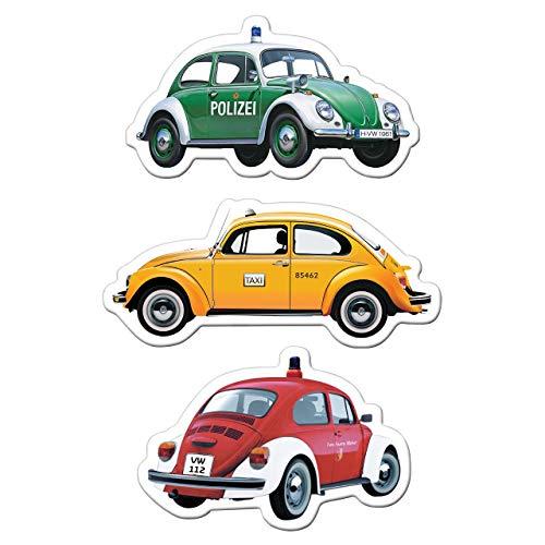Brisa VW Collection Magnete 3er Set VW Käfer Motiven - Spezialfahrzeuge - Vintage Collection Epoxy