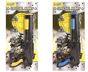 GLOBO- Gun con Bullets 2 Colores (38402), (1)