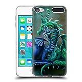 Head Case Designs Offizielle Rose Khan Grün und Blau Drachen Soft Gel Hülle für Apple iPod Touch 6G 6th Gen