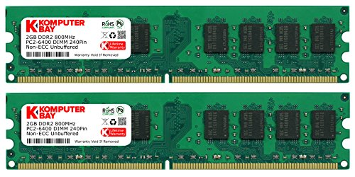 Komputerbay KB 4GB - Memoria RAM (DDR2, 800 MHz, 4 GB, 2...