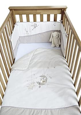 Clair de Lune Bedtime Story Cot/ Cot Bed Quilt and Bumper Set - cheap UK light shop.