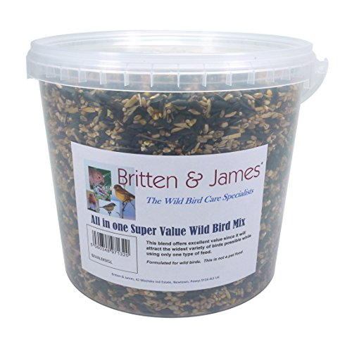 Britten & James Wild Bird Seed with Extra Sunflower Hearts 5L Tub (3.8kg) 1