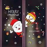 Longsw 1 Blatt 45x60 Cm Frohe Weihnachten Wandaufkleber Nicht Kleber Static Nette Bunte Muster DIY Schaufenster Fensterglas Hintergrund Neujahr Dekoration