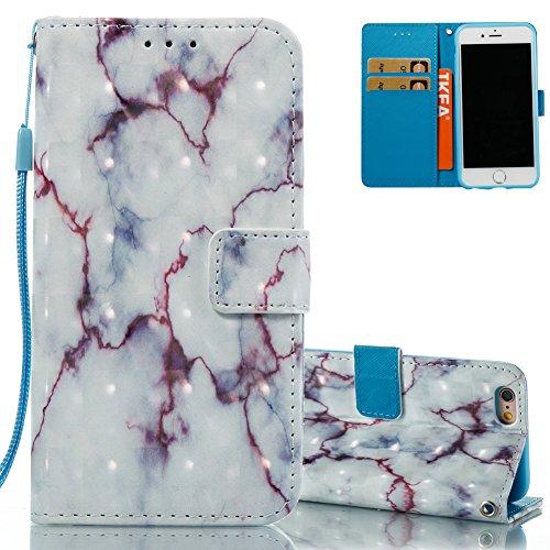 iPhone 7 Leder Brieftasche, iPhone 7 Wallet Case Cover, Aeeque® 3D Full Body Premium Trennbar Tragegurt [Standfunktion Kartenfächer] Hervorragend Rosa Meer der Wolken Muster Kunstleder Schale Handytas 3D Bunte Muster #25