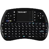 TeckNet® X331 Mini 2.4Ghz Wireless Schnurlos Kabellose Touch Tastatur (deutsches Tastaturlayout) mit Touchpad und Multimedia-Tasten für PC, Android TV und weitere