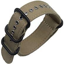 24mm de color caqui de lujo exótico lona de nylon de la NATO reemplazo de las pulseras para relojes de estilo militar bandas para los hombres