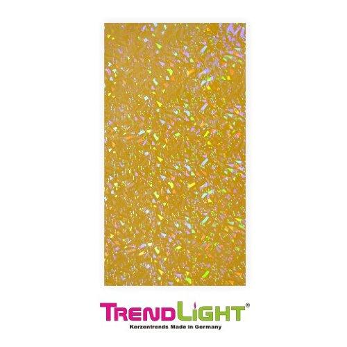 Verzierwachsplatten - Wachsplatten hologramm gelb 2 Stück 20x10 cm
