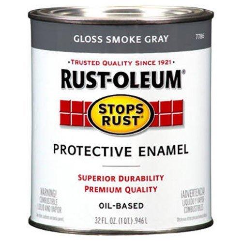 Rustoleum 1 Quart Smoke Gray Protective Enamel Oil Base Paint 7786-502