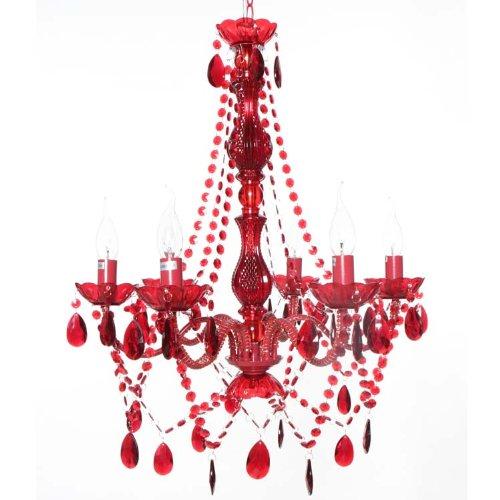 ROOMPRODUCTS - ARTE 6 SCHWARZ BUNT RAIN KLAR WEISS PINK diverse Farben Varianten ARMIG königlicher KRONLEUCHTER Deckenleuchte Ø 55 cm...