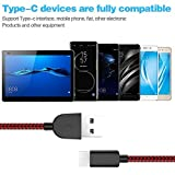 ActionPie USB Type C Cable 5-Pack(3/3/6/610ft) USB C Cable Nylon Braided Long Cord USB Type A to C Fast Charger for Macbook, LG G6 V20 G5,Google Pixel, Nexus 6P 5X, Samsung Galaxy S8+(Black&Red) Bild 3