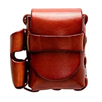 Kingtrot Genuine Leather Cigarette Case Belt Tobacco Pouch Waist Bag Lighter Holder Organizer