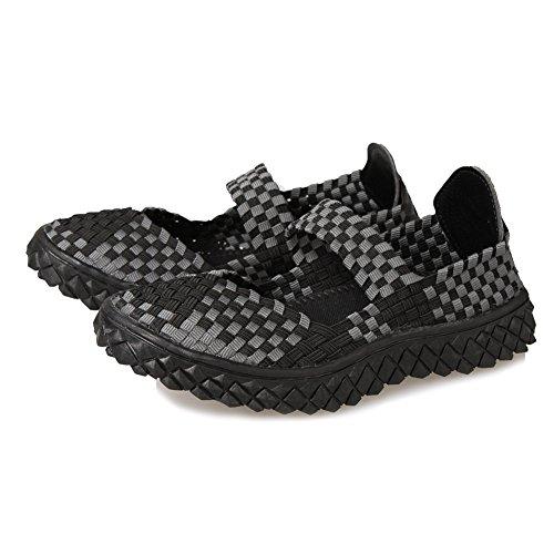 Respirável sapatos deslizamento hill Tecido Paris 02blgrey Baixos Em women Água Sapatos 7YExOzw