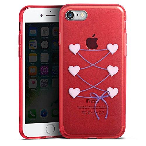 Apple iPhone 8 Silikon Hülle Case Schutzhülle Dirndl ohne Hintergrund Oktoberfest Silikon Colour Case rot