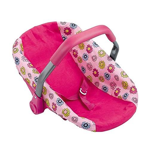 Baoblaze Puppenzubehör Mini Autositz mit Verstellbarer Träger Für 16 Zoll Neugeborene Baby Puppen (Mit Baby-puppen Trägern)