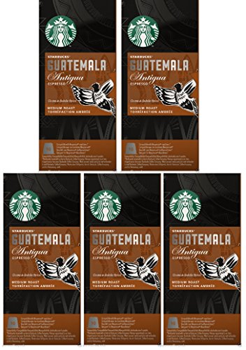 Shop for Starbucks Nespresso Espresso Guatemala Antigua Pods Coffee 50 Pods 5 x 10 Pods - Nespresso