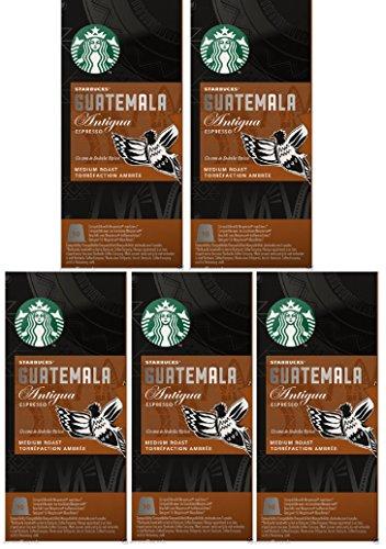 Shop for Starbucks Nespresso Espresso Guatemala Antigua Pods Coffee 50 Pods 5 x 10 Pods - Nespresso