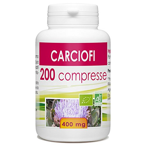carciofi - Box di 200 compresse da 400 mg