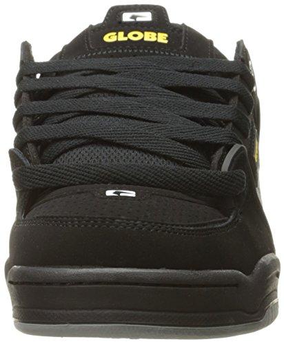 Globe Men's Fusion,Black/Night,14 D US Black/Grey/Yellow