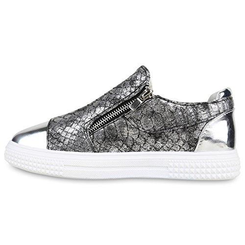 Stiefelparadies , Sneakers Basses femme Grau Metallic