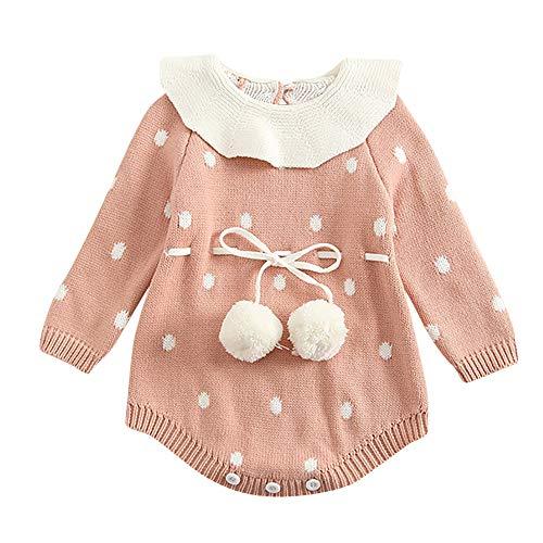 Jungen Baby Strampler, ✨LANSKIRT Dot | Blumen | Bogen | Hase Knit Strampler Langarm Bodysuits Baby Winterjacke Baby Jumpsuit Halloween Outfits Kleidung