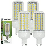 Sink-light 4 Stück G9 12W LED lampe Leuchtmittel & Birne Mais Licht 102 x 2835 SMD LEDs Mit PC Mantel (750LM, AC 220-240V, Kaltweiß 6500K, 360º Abstrahlwinkel, Ø32×90mm) Energiespar licht