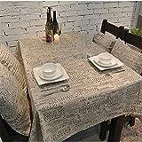 SONGHJ : Coton et Lin Lettre Nappe Cuisine Salon Décoration de la Maison Couverture de Table Rectangle Table à Linge de Mariage Un 140x220cm / 55x87in