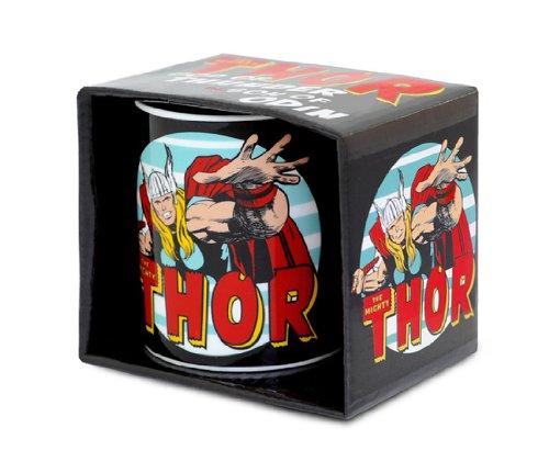 Marvel Comics - Mighty Thor Porzellan Tasse - Kaffeebecher - schwarz - Lizenziertes Originaldesign - LOGOSHIRT