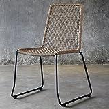 Jet-Line Gartentstuhl Set Gartenstühle 6 Stück (Stapelbar) Martinique Stuhl für In und Outdoor geeignet aus neuer Segelwicklung UV Beständig