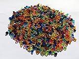 1500 Stück 5mm glitzernde bunte Deko Diamanten Brillianten Strasssteine Acrylsteine transparent klar kristall basteln Gltzersteine Schmucksteine Strass Steine zum Verzieren Dekorieren von CRYSTAL KING