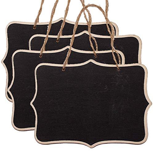 Panamami Weihnachtshängende Tafel Mini Hanging Chalkboard Signs Small Message Blackboard für Weihnachtsfeier Hochzeit Lace Shape
