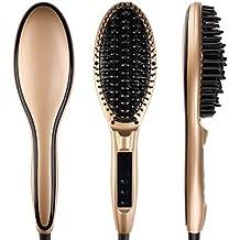 Cepillo de pelo eléctrico automático profesional para enderezar pelo, con pantalla LCD,DBTech, Cepillo Alisador de Pelo, Cepillo de Pelo Profesional y Antiestático para desenredar cabello