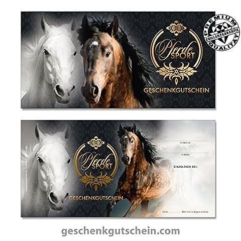 """100 Stk. Geschenkgutscheine """"DIN lang"""" für Reitsport, Pferdesport"""